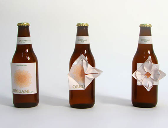 creative-package-design-origami-beer